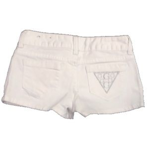GUESS white denim short shorts like new size 25